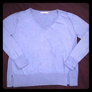 Zara soft knit V-neck sweater w/seam details